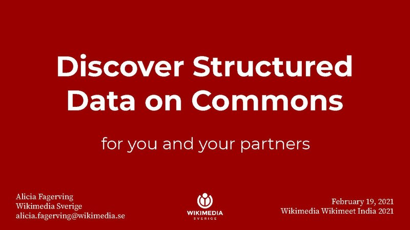 File:Wikimeet India 2021 - Discover Structured Data on Commons WMSE.pdf
