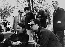 Richard Wilbur and Anselm Hollo (right) in Lahti, Finland, 1964.