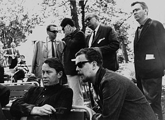 Richard Wilbur - Richard Wilbur and Anselm Hollo (right) in Lahti, Finland, 1964.