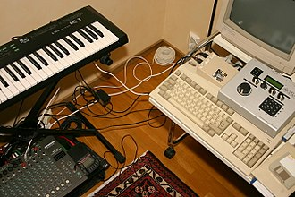 Lo-fi music - A minimal bedroom studio set-up with 1980s–1990s equipment