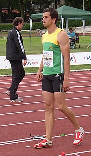 Willem Coertzen South African track and field athlete