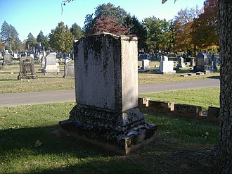 William F. Perry Monument - Image: William F. Perry Monument back