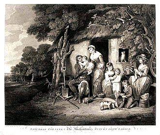 William Redmore Bigg - Saturday evening - The Husbandman's return from labour.