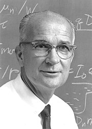 William Shockley a la Universitat de Stanford l'any 1975.