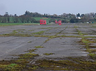 Wisley Airfield - View along the former runway