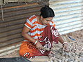 Women farmer processing horticulture produce , Havelock Island, Andaman Island, India.JPG