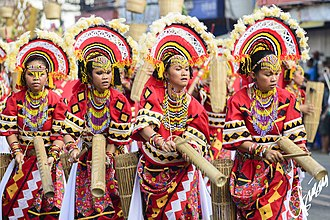 Lumad - Women in traditional Manobo attire during the Kaamulan Festival of Bukidnon