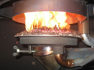 Pellet fuel - Image: Wood pellet heater
