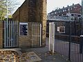 Woolwich Dockyard stn north entrance.JPG