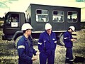 Workers and a Star 944 truck at the Turów Coal Mine 3.jpg