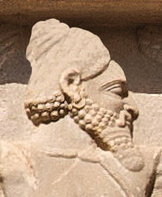 Hindush - Xerxes I tomb, Hindush soldier circa 480 BCE (enhanced detail).