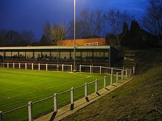 Yorkshire Amateur A.F.C. - Image: Yorkshire Amateur main stand and Gledhow Park Grove end