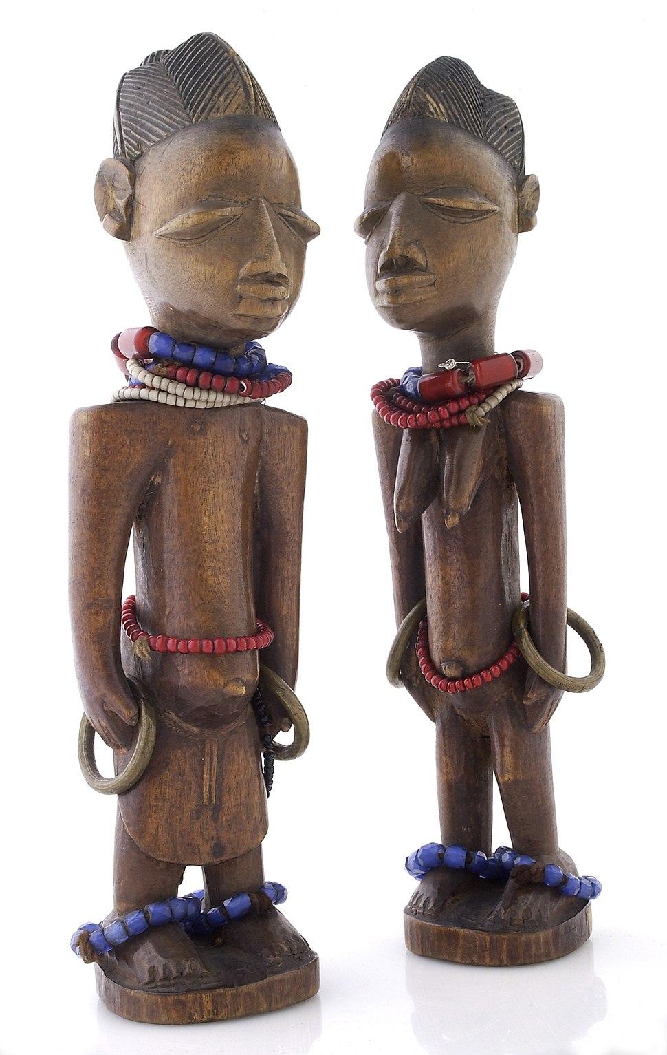 Yoruba Ibeji figures, representing twins Wellcome L0035694