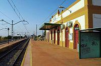 Yunquera de Henares Railway Station.JPG