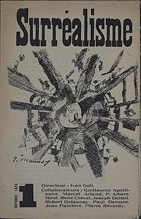 Yvan Goll, Surréalisme, Manifeste du surréalisme, Volume 1, Number 1, October 1, 1924, cover by Robert Delaunay.jpg
