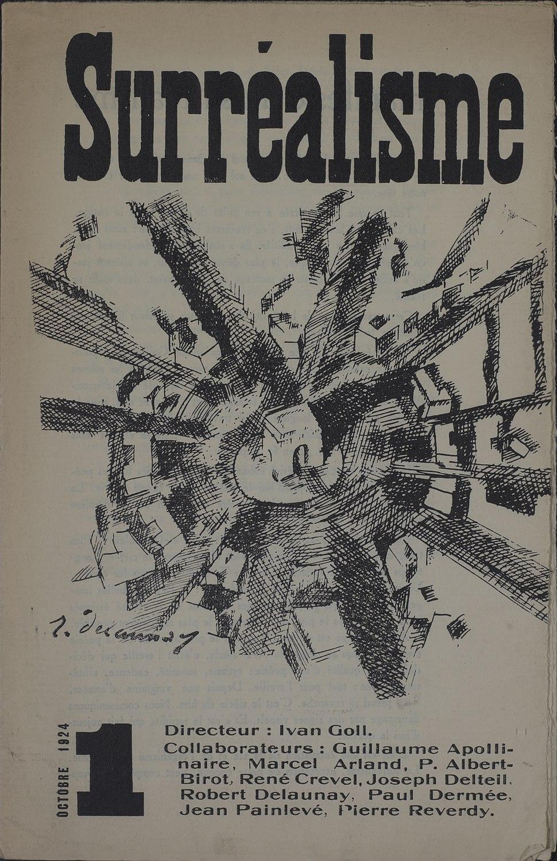 Yvan Goll, Surréalisme, Manifeste du surréalisme, Volume 1, Number 1, October 1, 1924, cover by Robert Delaunay