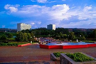 Zelenograd - Image: Zelenograd Victory Park Fountains