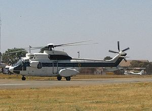 Air Force of Zimbabwe - A retired AS332L Super Puma