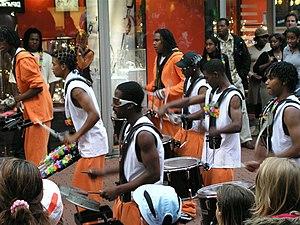 Drummers at the Zoetermeer Caribbean Carnival,...
