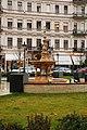 Zsolnay fountain in József nádor Square - November 2019.jpg