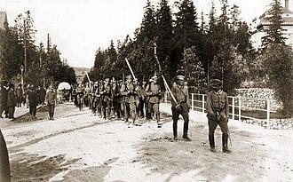 Riflemen's Association - Image: Związek Strzelecki Zakopane 08.1913 Ryś Trojanowski