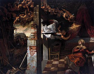 Scuola Grande di San Rocco - The Annunciation from the Tintoretto cycle