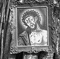 """""""Boh"""" - slika, olje - platno (51x40cm). Po pripovedovanju je slikar iz Vasije pri Zakojci pod Atavnikom. Tudi okvir baje napravil slikar sam. Slika je pri hiši že par sto let, Krtečne 1954.jpg"""