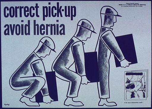 الطريقة الصحيحة لحمل الاشياء الثقيلة