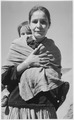 """Navajo Woman and Child, Canyon de Chelle, Arizona."" (Canyon de Chelly National Monument) (vertical orientation), 1933 - - NARA - 519949.tif"