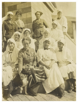 """""""The Chief"""" (Elsie Inglis) and some of her sisters - 1916.png"""