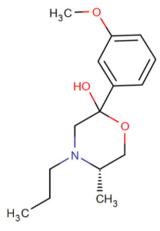 (5S) - 2 - (3-metoksifenil) 5-metilo-4-propylmorpholin-2-ol.png
