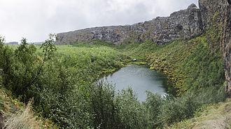 Ásbyrgi - Botnstjörn lake