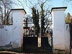 Jewish cemetery at the town of Strakonice, Klatovy District, Czech Republic - entrance