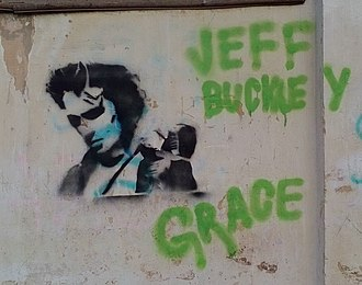 Jeff Buckley - Graffiti memorium by fans in Russia, 2015