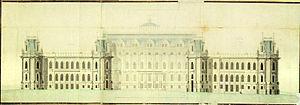 Tsaritsyno Park - Grand Palace drawing, 1786