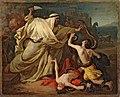 Михайлов Григорий - Лаокоон с детьми в борьбе со змеями, эскиз (1841).jpg