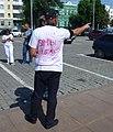 Николай Улитин с футболкй за Хабаровск на акции 1 августа 2020 года в Екатеринбурге за Хабаровск.jpg