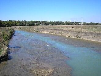 Yegorlyk River - The Yegorlyk near Novotroitskaya