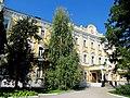 Рязанский государственный университет, старое здание, вид на главный вход.JPG