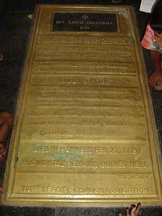 Bartholomäus Ziegenbalg - Tomb of Bartholomäus Ziegenbalg