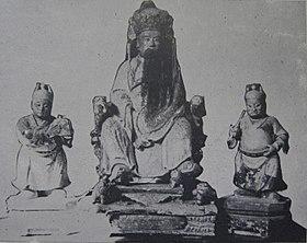 明寧靖王朱術桂神像