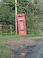 -2019-11-10 The leaning telephone box of Sidestrand, Norfolk.JPG