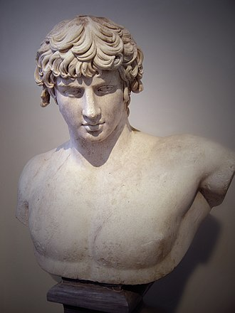 Antinous - Bust of Antinous from Patras, (National Archaeological Museum of Athens)