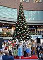 02015 143 Weihnachtsbaum in einem Mall mit Dekorationen in Bielitz.JPG