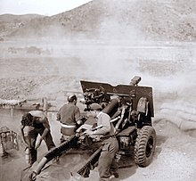 New Zealand Artillery Crew In Action 1952