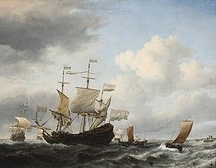 A Dutch Flagship Coming to Anchor