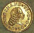 "1-2 Escudo (Oro) de Fernando VI con ""ceca"" de Madrid 1750.jpg"