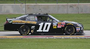 Start and park - Jeff Green's No. 10 TriStar Toyota in 2014.