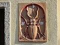 1210 Jedleseerstraße 79-95 Stg. 22 - Relief-Hauszeichen Hirschkäfer von Edmund Reitter 1955 IMG 0616.jpg