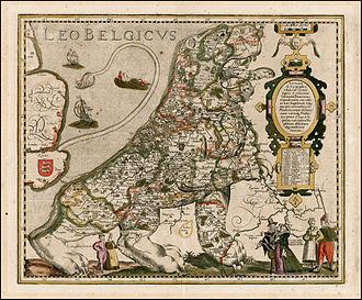 Leo Belgicus - Image: 1617 Leo Belgicus Kaerius